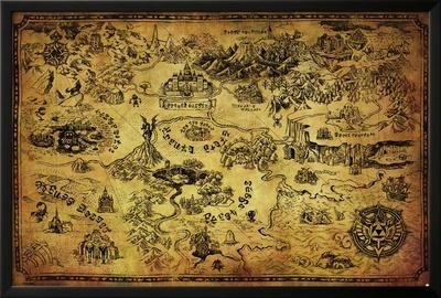 Zelda- Hyrule Map Photo