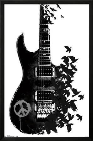 Crow Guitar Posters