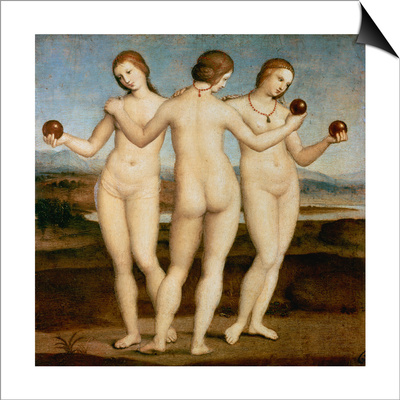 The Three Graces, C. 1502-3 Prints by  Raffael