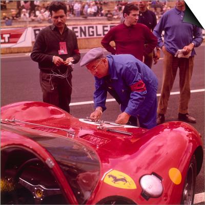 The Ferrari Pit, Le Mans, France, 1965 Prints