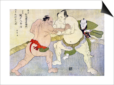 Sumo Wrestlers, 1897 Posters