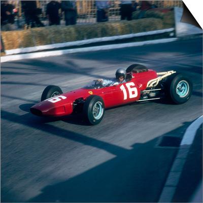 Lorenzo Bandini Driving a Ferrari 246, in the Monaco Grand Prix, Monte Carlo, 1966 Prints
