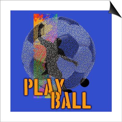 Play Ball - Soccer Prints by Jim Baldwin