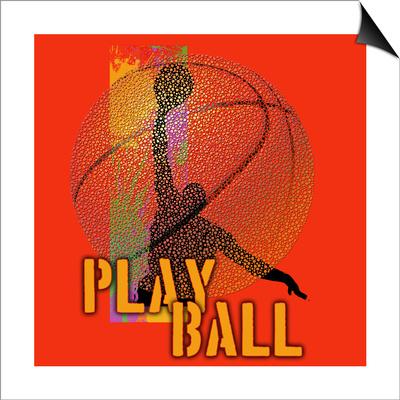 Play Ball - Basketball Posters by Jim Baldwin