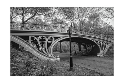 Central Park Gothic Bridge Photographic Print by Henri Silberman