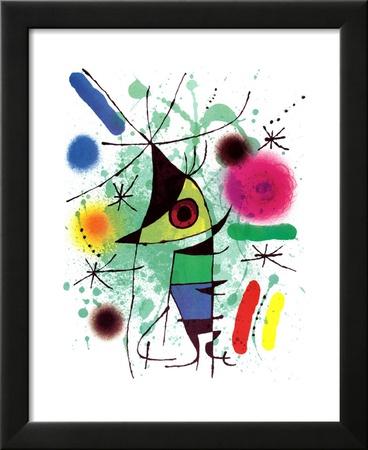 Der singende Fisch Kunstdrucke von Joan Miró