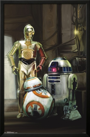 Star Wars The Force Awakens - Droids Prints