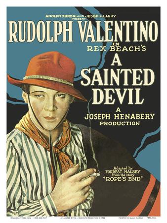 A Sainted Devil - Starring Rudolph Valentino Prints