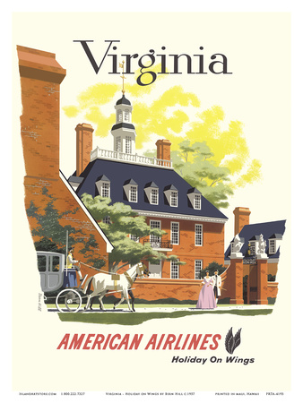 Virginia - American Airlines Posters by Bern Hill