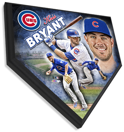 Kris Bryant Home Plate Plaque Wall Sign