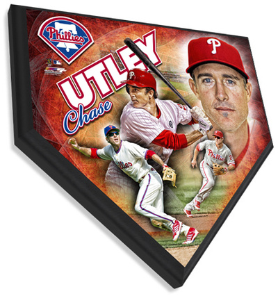 Chase Utley Home Plate Plaque Wall Sign