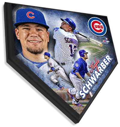 Kyle Schwarber Home Plate Plaque Wall Sign