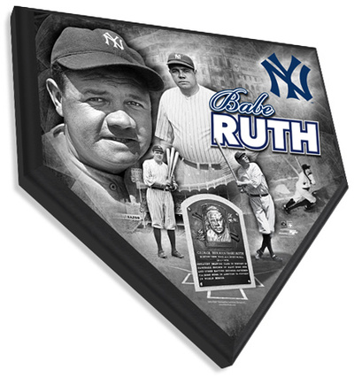 Babe Ruth Home Plate Plaque Wall Sign