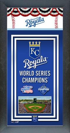 Kansas City Royals 2015 World Series Champions Framed Championship Banner Framed Memorabilia