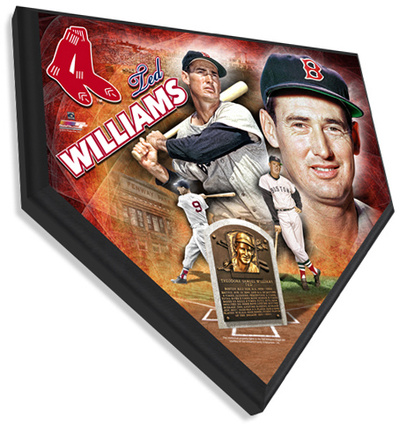 Ted Williams Home Plate Plaque Wall Sign