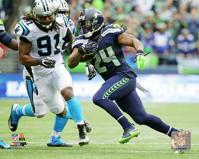 Marshawn Lynch 2015 Action Photo