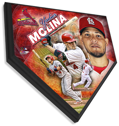 Yadier Molina Home Plate Plaque Wall Sign