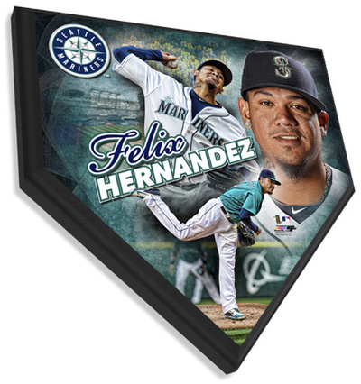 Felix Hernandez Home Plate Plaque Wall Sign