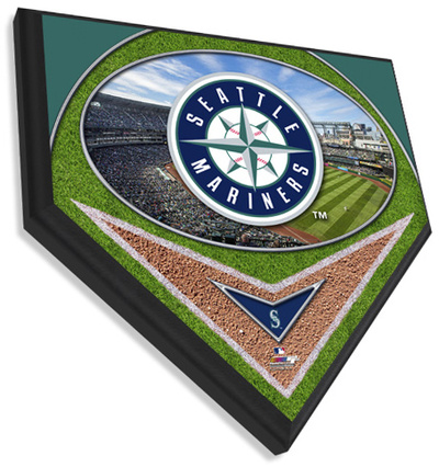 Seattle Mariners Team Logo Home Plate Plaque Wall Sign