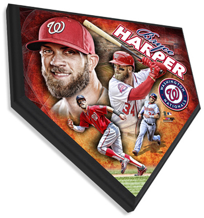 Bryce Harper Home Plate Plaque Wall Sign