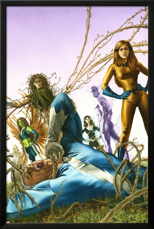 Son Of M No.3 Cover: Quicksilver and Crystal Print by Roy Allan Martinez