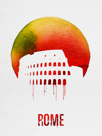 Rome Landmark Red Plastic Sign by  NaxArt