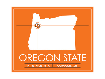 Oregon State State Map Posters by  Lulu