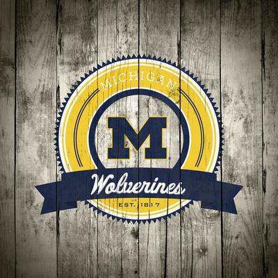 Michigan Wolverines Logo on Wood Photo by  Lulu