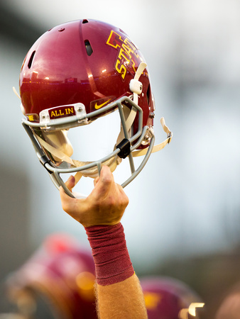 Iowa State Football Helmet - All In Photographic Print by Justin Hayworth
