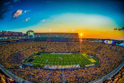 LSU: Sunset at Tiger Stadium Fotoprint