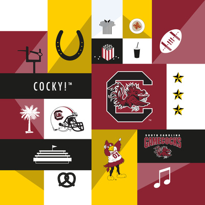 South Carolina Gamecocks Collage Prints by  Lulu