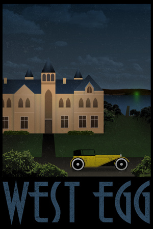 West Egg Retro Travel Poster Poster
