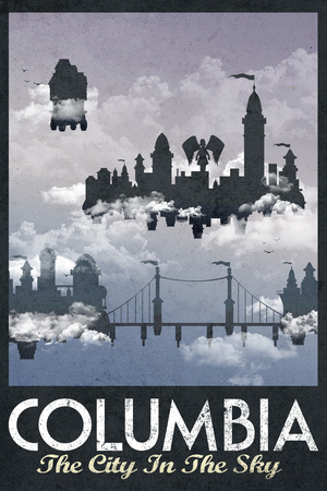 Columbia Retro Travel Poster Posters