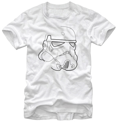 Star Wars- Trooper Outline T-Shirt