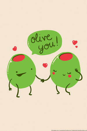 Olive You Prints by  Snorg