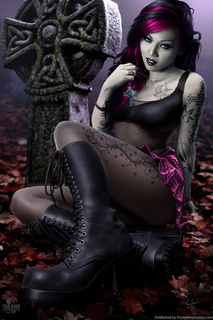 Goth Girl Posters by Tom Wood
