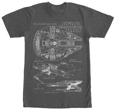 Star Wars- Rebel Schematics Shirts
