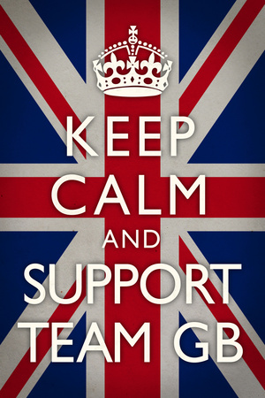 Keep Calm and Support Team GB Sports Poster Photo