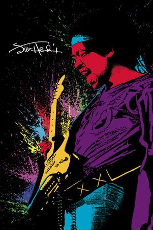 Jimi Hendrix- Paint Posters