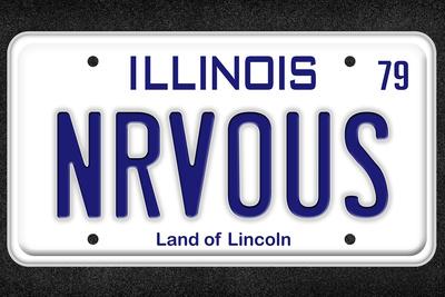 NRVOUS License Plate Movie Poster Prints