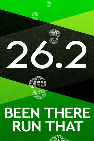 26.2 Been There Run That Marathon Sports Poster Poster