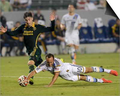 Jul 4, 2014 – MLS: Portland Timbers vs Los Angeles Galaxy – Jorge Villafana, Landon Donovan Posters by Jayne Kamin-Oncea