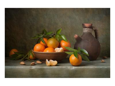 Tangerines & Jug Still Life Art