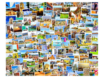 World Travel Destinations Set Prints