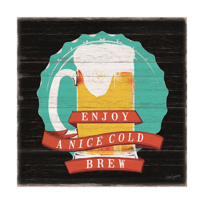 Cold Beer Poster by Sam Appleman