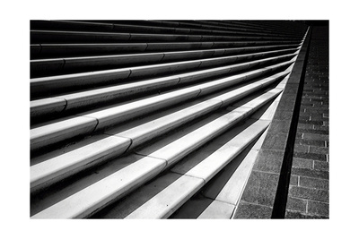Converging Steps Photographic Print by George Oze
