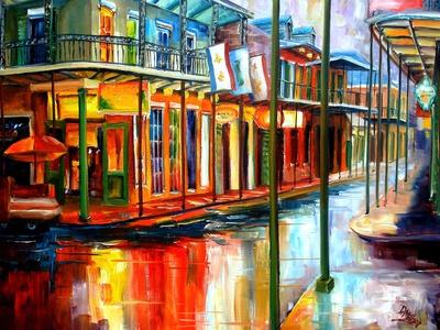 Downpour on Bourbon Street Prints by Diane Millsap
