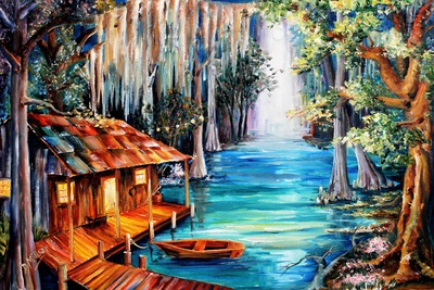 Moon on the Bayou Posters by Diane Millsap