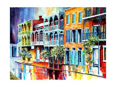 Rain in Old New Orleans Print by Diane Millsap