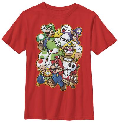 Youth: Super Mario- Character Parade Tシャツ